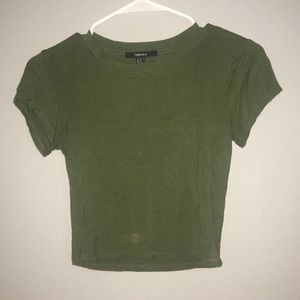 Dark Green Crop Top